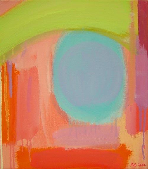 Angela Brennan Evening landscape (2), 2002; Oil on linen; 39.5 x 37 cm; enquire