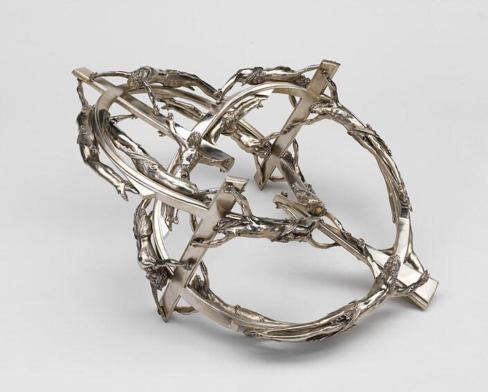 Wim Delvoye Double Helix AACI 180 00, 2007; Berlin silver; 48 x 120 x 80 cm; enquire