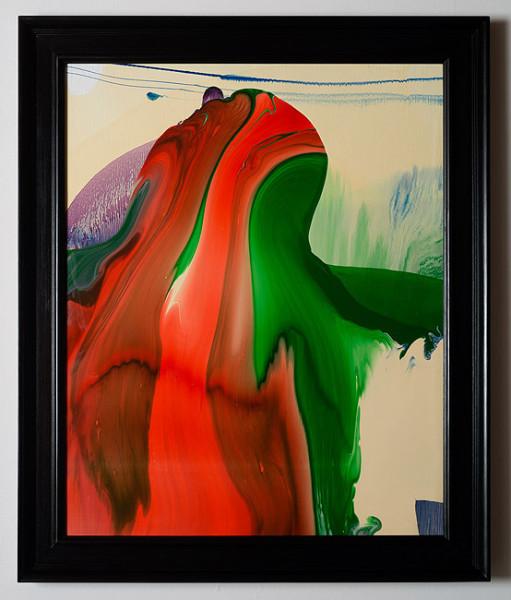 Dale Frank Conservative Institutional Beauty #10, 2012; Varnish on canvas; 87 x 74 cm; (framed); enquire
