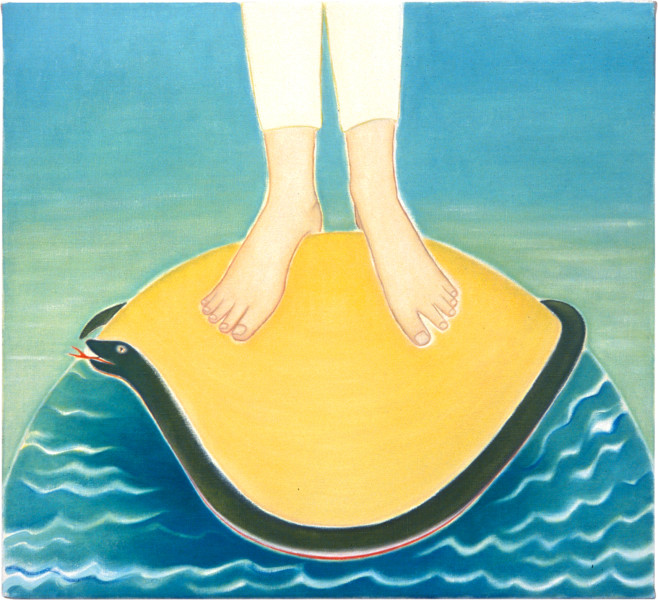 Vivienne Shark LeWitt Feet, 2001; oil on linen; 56 x 61 cm; enquire