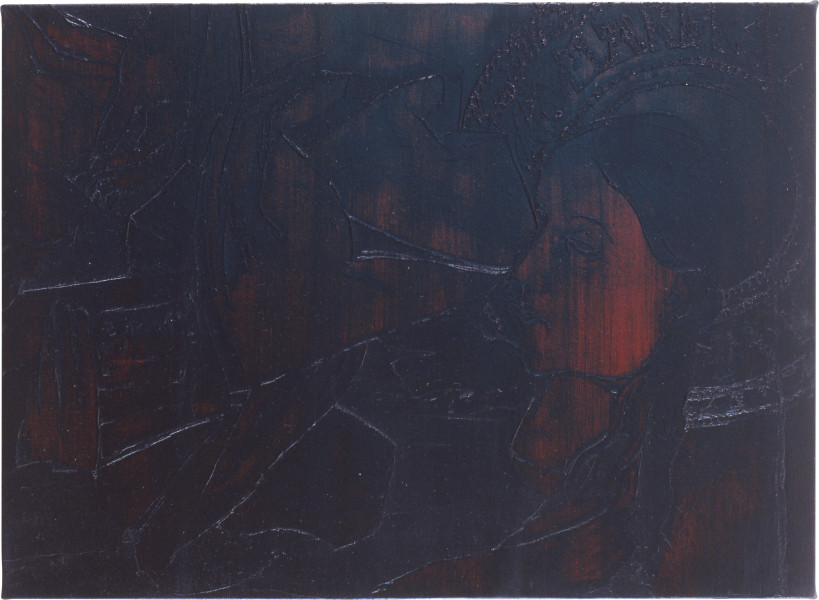 Lindy Lee Psychology of Forgetting, 1991; oils and wax on canvas; 66 x 91.5 cm; enquire