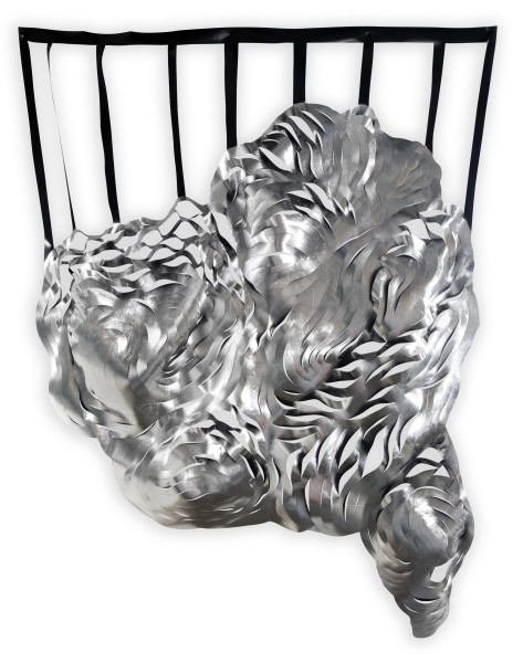 Caroline Rothwell Composition 2, 2014; aluminum leaf, UV-stable structural PVC; 185 x 145 x 10 cm; enquire