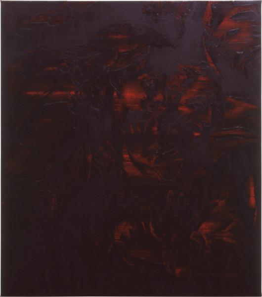 Lindy Lee Economy of Whispers, 1992; oil and wax on canvas; 117 x 75 cm; enquire