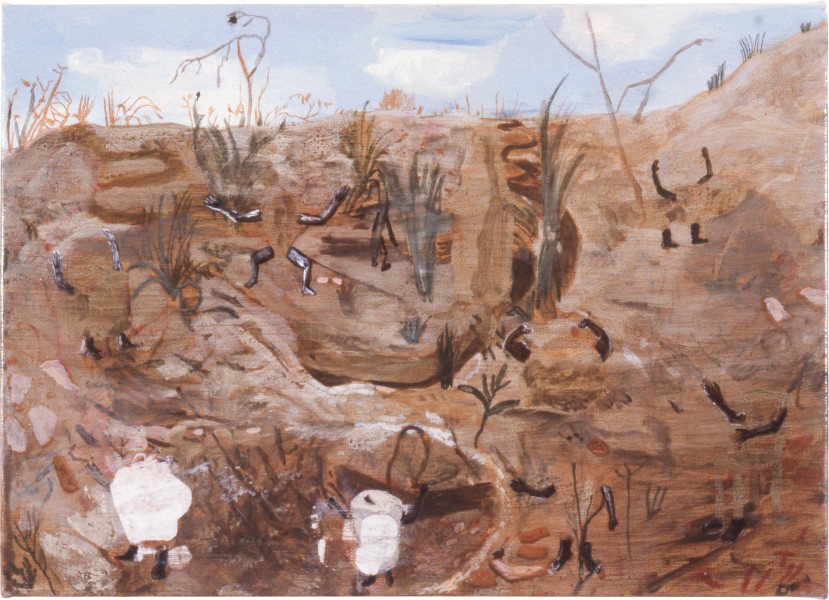 Geoff Lowe Objects, 1988; synthetic polymer paint on linen; 38 x 54 cm; enquire