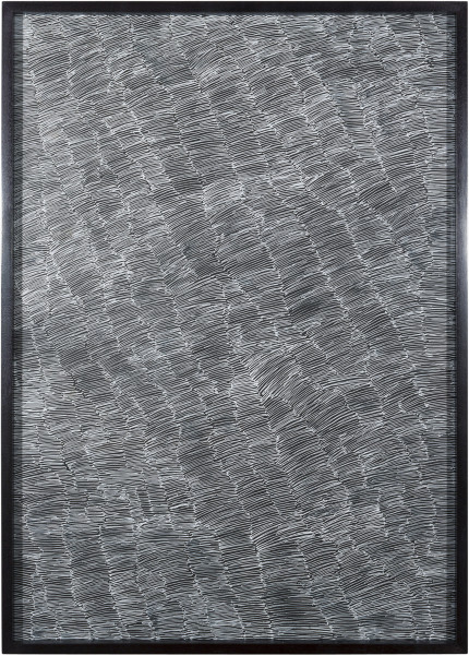 Nyapanyapa Yunupingu Untitled, 2012; 4305N - AC 6.9 Birrka'mirri; from the series Sydney Contemporary 2018; paint pen on clear acetate plastic; 86 x 61.5 cm; (framed); Enquire
