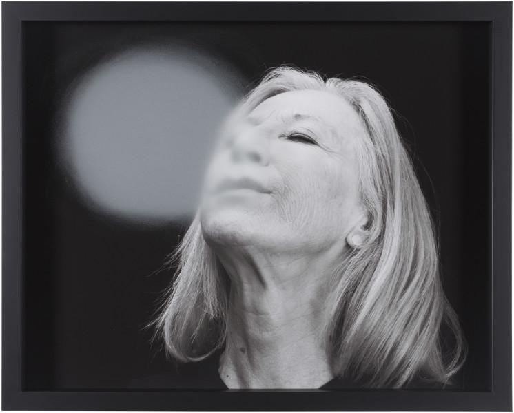 Julie Rrap Blow Back #21, 2018; digital print and handground glass; 52 x 64 cm; Edition of 3 + AP 1; enquire