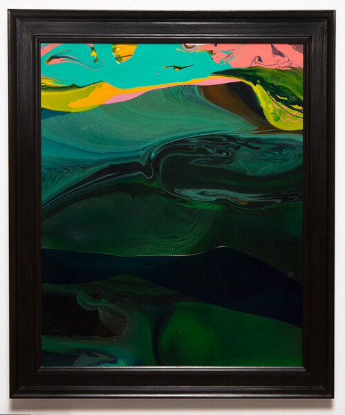 Dale Frank Conservative Institutional Beauty #7, 2013; Varnish on canvas; 87 x 74 cm; (framed); enquire