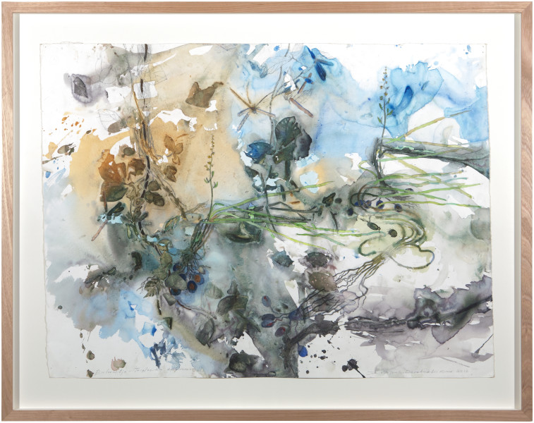 John Wolseley Bulwutja in the Durabudboi River, 2015; watercolour and graphite on paper; 93 x 118 cm; Enquire