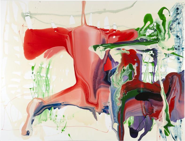 Dale Frank Brugmansia Sanguinea Bent Witch, 2011; varnish on canvas; 200 x 260 cm; enquire
