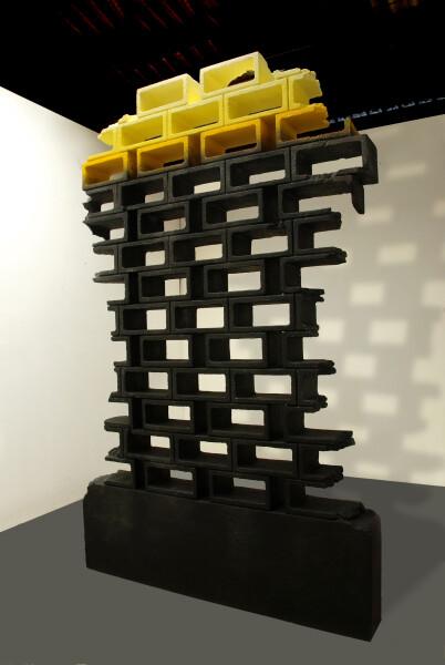 Callum Morton Monument #16, 2008; polyurethane, epoxy resin, sand, MDF, synthetic polymer paint; 260 x 160 x 21 cm; enquire