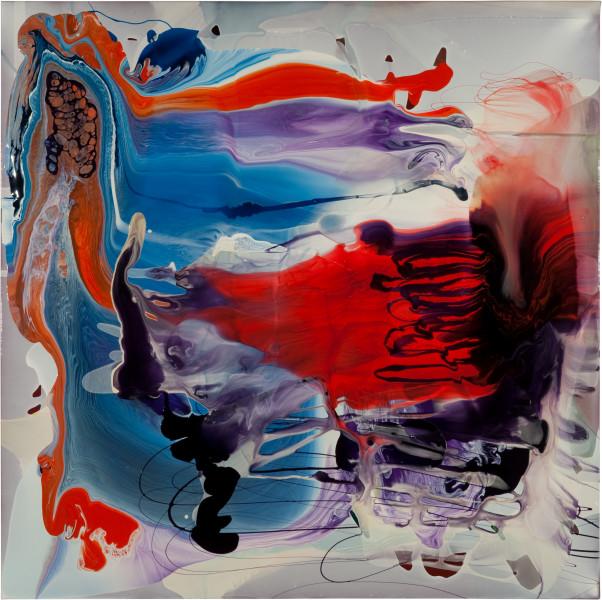 Dale Frank Cedrus Atlantica Flavored Fuss, 2011; varnish on canvas; 180 x 180 cm; enquire