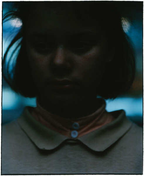 Bill Henson Untitled #129, 1985-86; gallery catalogue reference #64; Type C colour photograph; 134.5 x 114 cm; Paper size: 128 x 100 Image size: 105 x 86cm; Edition of 20; enquire