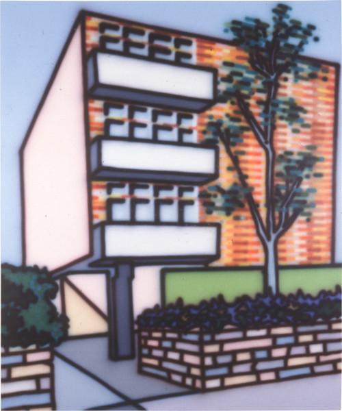 Howard Arkley OYO Flats, 1987; acrylic paint on canvas; 198 x 168 cm; enquire