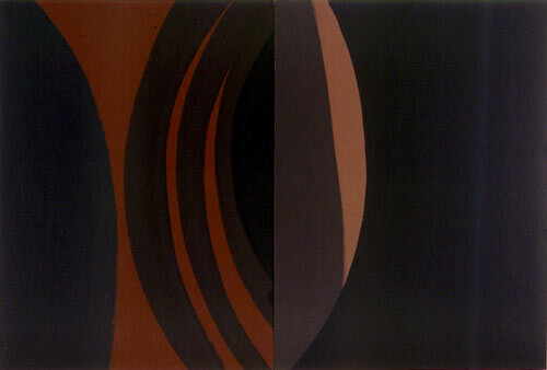 Tony Clark Lontano XXXI, 2000; from the series Lontano; Acrylic on canvas board; 61 x 91.5 cm; 2 panels; enquire