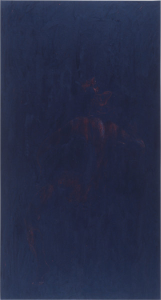 Lindy Lee Jupiter and Io, 1986; wax and oils on canvas; 198 x 170 cm; enquire
