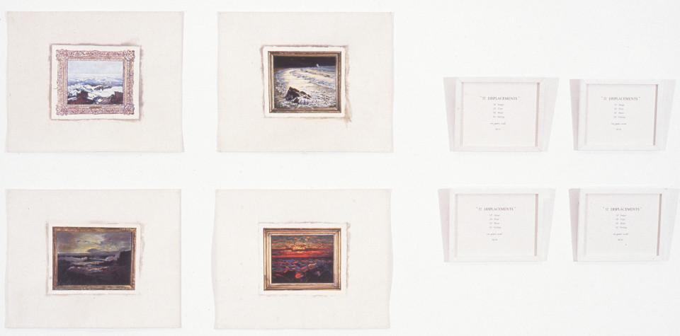 Imants Tillers 52 displacements, 1979; gouache on canvas, printed paper; 34.4 x 42.5 (each canvas); enquire