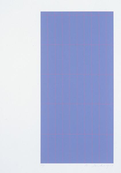 Robert Jacks Red Grid, 1974; silkscreen print; sheet 66 x 51 cm, image 53.8 x 25.4 cm; enquire