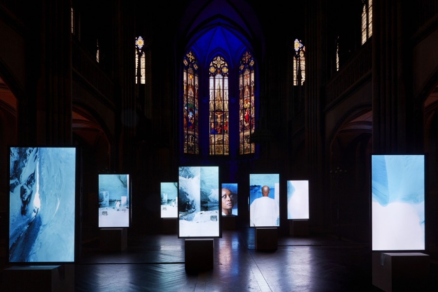 Isaac Julien Stones Against Diamonds (10 channel film), 2015; 10 portrait screens with HD playback 5.1 surround sound; Duration: 58 minutes 28 seconds; Edition of 3 + AP 1; enquire