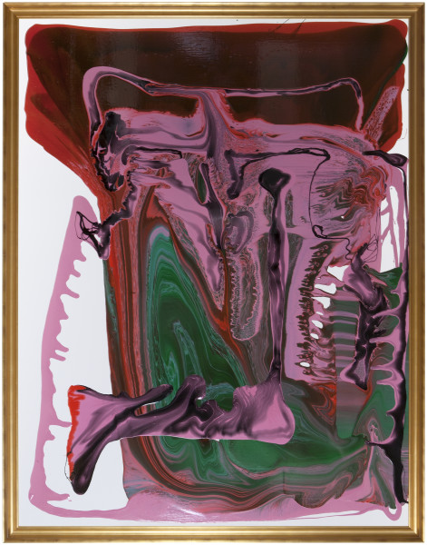 Dale Frank Self Portrait with amorous Tapeworms, 2013; varnish on canvas; 200 x 260 cm; enquire