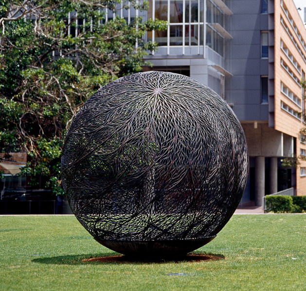 Bronwyn Oliver Globe, 2002; Copper; 2.5 m diameter; enquire