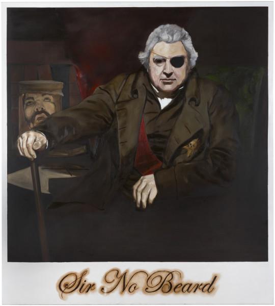 Daniel Boyd Sir No Beard, 2009; oil on canvas; 153 x 137.5 cm; enquire