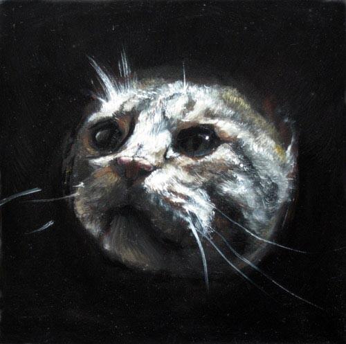 Louise Hearman Untitled #1145, 2005; oil on masonite; 27 x 27 cm; enquire
