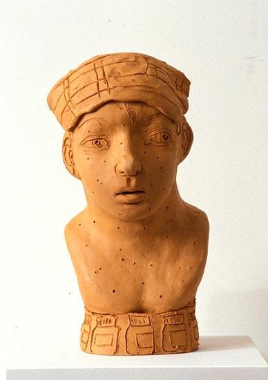 Linda Marrinon Sick Man, 1994; terracotta; 36.5 cms high; enquire