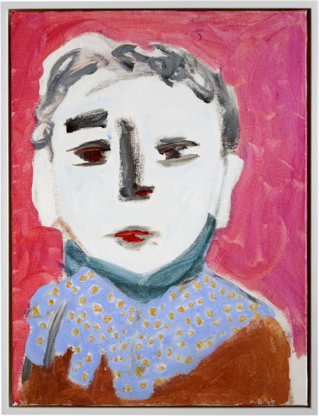 Angela Brennan Boy with polka dot ruff, 2006; acrylic on canvas board; 41 x 30.5cm (unframed), 43 x 33 (framed); enquire