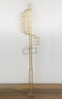 Marley Dawson Public furniture - Broad and Arch (light/ladder), 2018; brass, silver solder; 303 x 68 x 30 cm; enquire