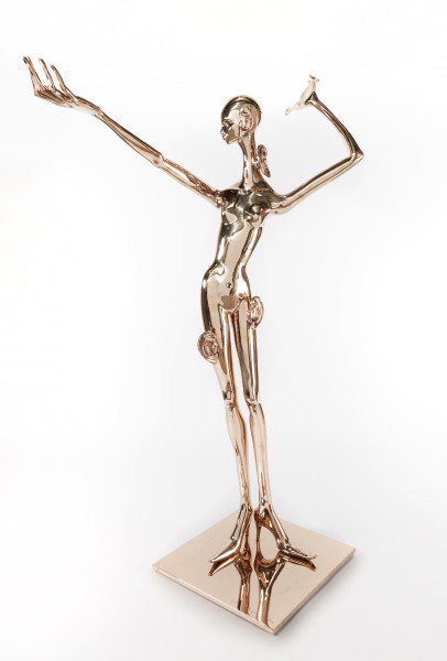 Del Kathryn Barton here she HEAR, 2019; bronze; 205 x 115 x 75 cm; 140 kg; Edition of 3 + 2 APs; enquire