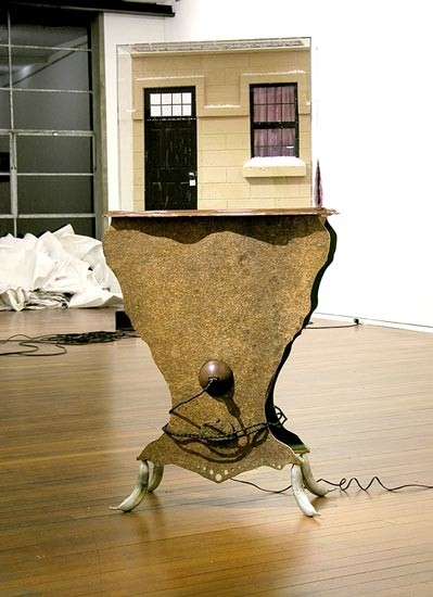 Hany Armanious The danger in extracting meaning, 2006; snow, guts, electricity; 170 x 82.4 x 60 cm; enquire