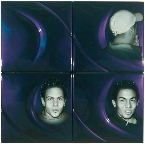 Patricia Piccinini HOTHSV, 2002; ABS plastic and automotive paint; 100 x 100 x 5 cm; 4 panels; enquire