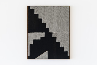 Renee So Abstract Composition, 2019; handwoven cotton, oak frame; 90 x 72 cm; enquire