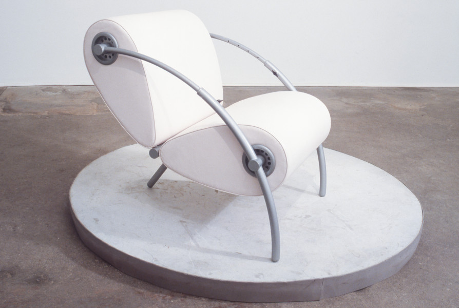Marc Newson Insect Chair, 1986; aluminium, steel, leather and coating; 64 x 70 x 75 cm; enquire