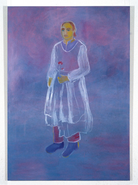 Angela Brennan Kim Lycos as St Augustine, 1994; oil on canvas; 230 x 152 cm; enquire