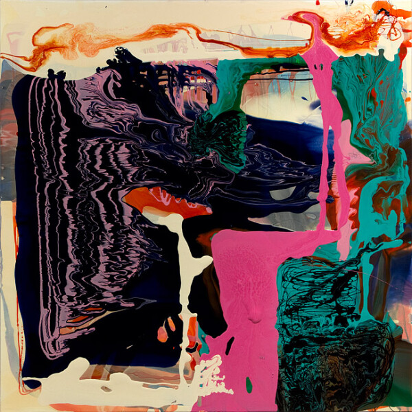 Dale Frank Europe  Europe Who, 2012; varnish on canvas; 200 x 200 cm; enquire
