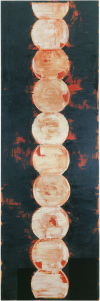 John Firth-Smith Rising, 2001; from the series Exhibited in 'Stolen Ritual', 2006; oil on linen; 366 x 122 cm; (12 x 4ft.); enquire