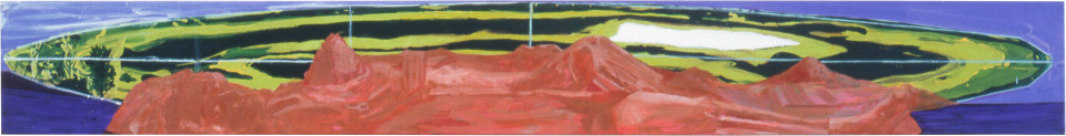 Geoff Lowe Mum, 1990; synthetic polymer paint on linen; 31 x 244 cm; enquire