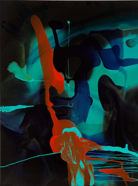 Dale Frank His web history was something he thought he had kept hidden, 2011; varnish on canvas; 160 x 120 cm; enquire