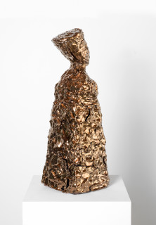 Mikala Dwyer The things in things, 2013; Found object, ceramic, glaze; 68 x 22 x 20 cm; enquire