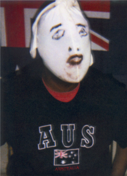 Destiny Deacon Goodie hoodie - man (A), 2007; Lightjet print from Polaroid original; 54 x 40 cm; Edition of 8 + 2 APs; enquire