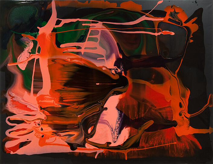 Dale Frank Tuesday afternoons till 7.00pm was the regular arrangement, 2011; varnish on canvas; 200 x 260 cm; enquire