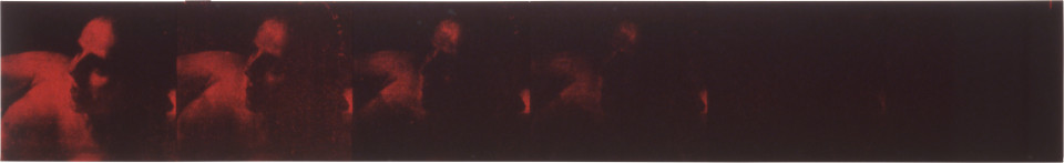 Lindy Lee A Morsel or Intoxication, 1992; photocopy and acrylic on stonehenge paper; 27 x 174 cm; enquire