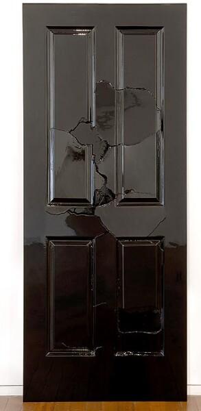Callum Morton Door Door Too, 2007; from the series Exhibited at Art 38 Basel, Switzerland, 2007; wood, enamel paint; 204 x 82 x 11 cm; enquire