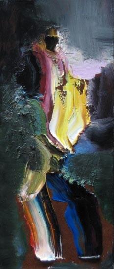 Louise Hearman Untitled #1183, 2004; oil on masonite; 35 x 15 cm; enquire