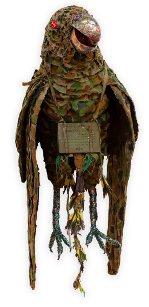 Fiona Hall Pezoporus occidentalis / night parrot, 2009-11; Mixed media; 100 x 45 x 45 cm; enquire