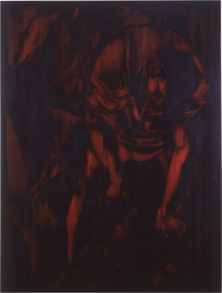 Lindy Lee This too is Heroic, 1988; oils and wax on canvas; 189 x 145 cm; enquire