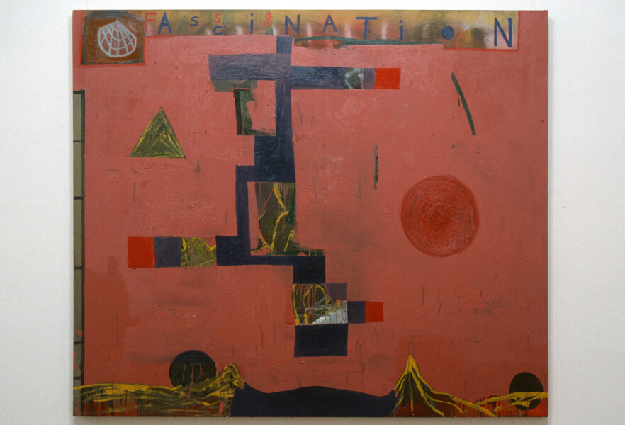 Gareth Sansom Fascination, 1991; mixed media on linen; 182 x 144 cm; enquire