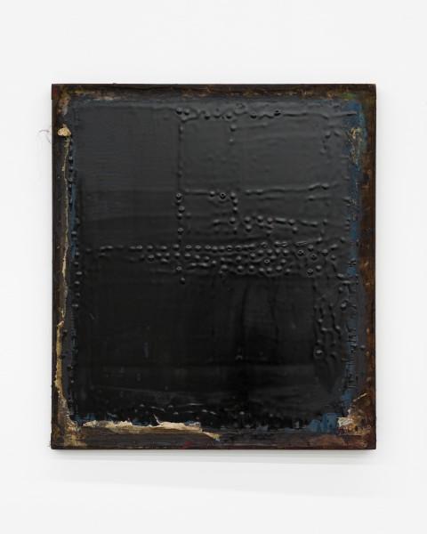 Kirtika Kain The Solar Line XXV, 2020; tar, disused silk screen; 67 x 58 cm; enquire