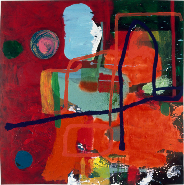 Dale Frank The Traditional Painting, 1996; fluro, acrylic and enamel on linen; 200 x 200 cm; enquire